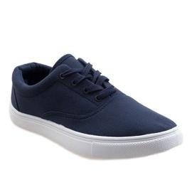 Navy blue men's sneakers QF-10 1
