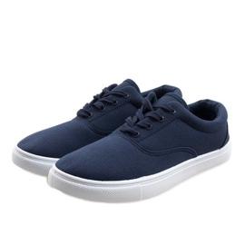 Navy blue men's sneakers QF-10 2