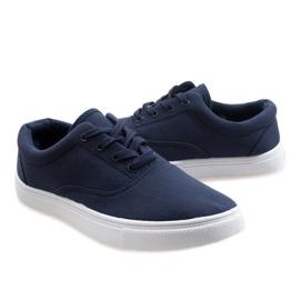 Navy blue men's sneakers QF-10 3