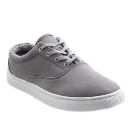 Gray men's sneakers QF-10 grey 1