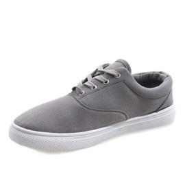 Gray men's sneakers QF-10 grey 2