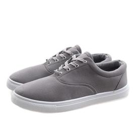 Gray men's sneakers QF-10 grey 3