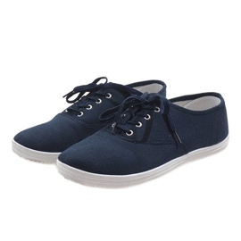Navy men's sneakers SR13103 4