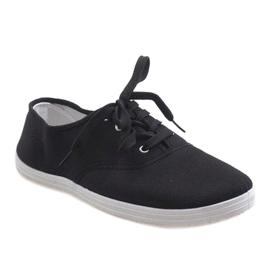 Black men's sneakers SR13103 1