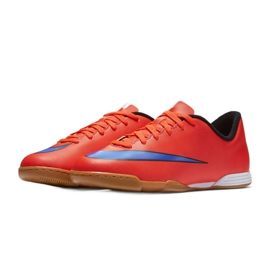 Football shoes Nike Mercurial Vortex Ii Ic Jr 651643-650 red red 4