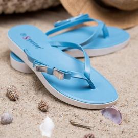Seastar Flip-flops With Bow blue 4