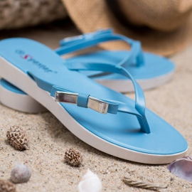 Seastar Flip-flops With Bow blue 1
