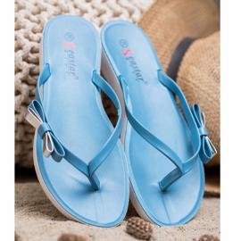 Seastar Flip-flops With Bow blue 2