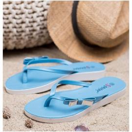 Seastar Flip-flops With Bow blue 3
