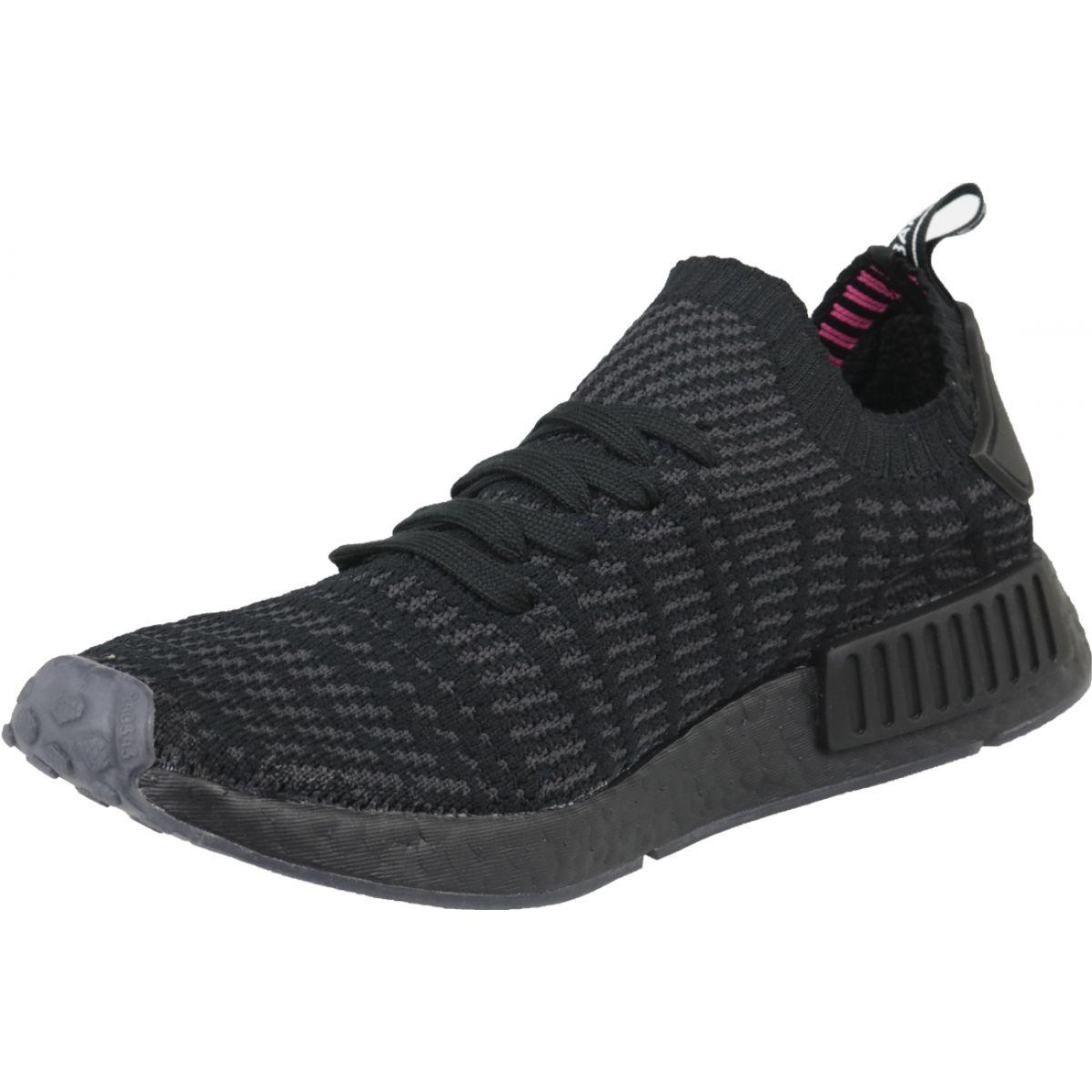 online store 0adf3 842f3 Black Adidas NMD_R1 Stlt Pk M CQ2391 shoes
