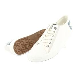 Big star half-boots white 174074 blue 4
