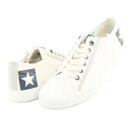 Big star half-boots white 174074 blue 3
