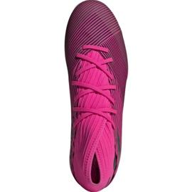 Football boots adidas Nemeziz 19.3 In M F34411 pink black grey 2