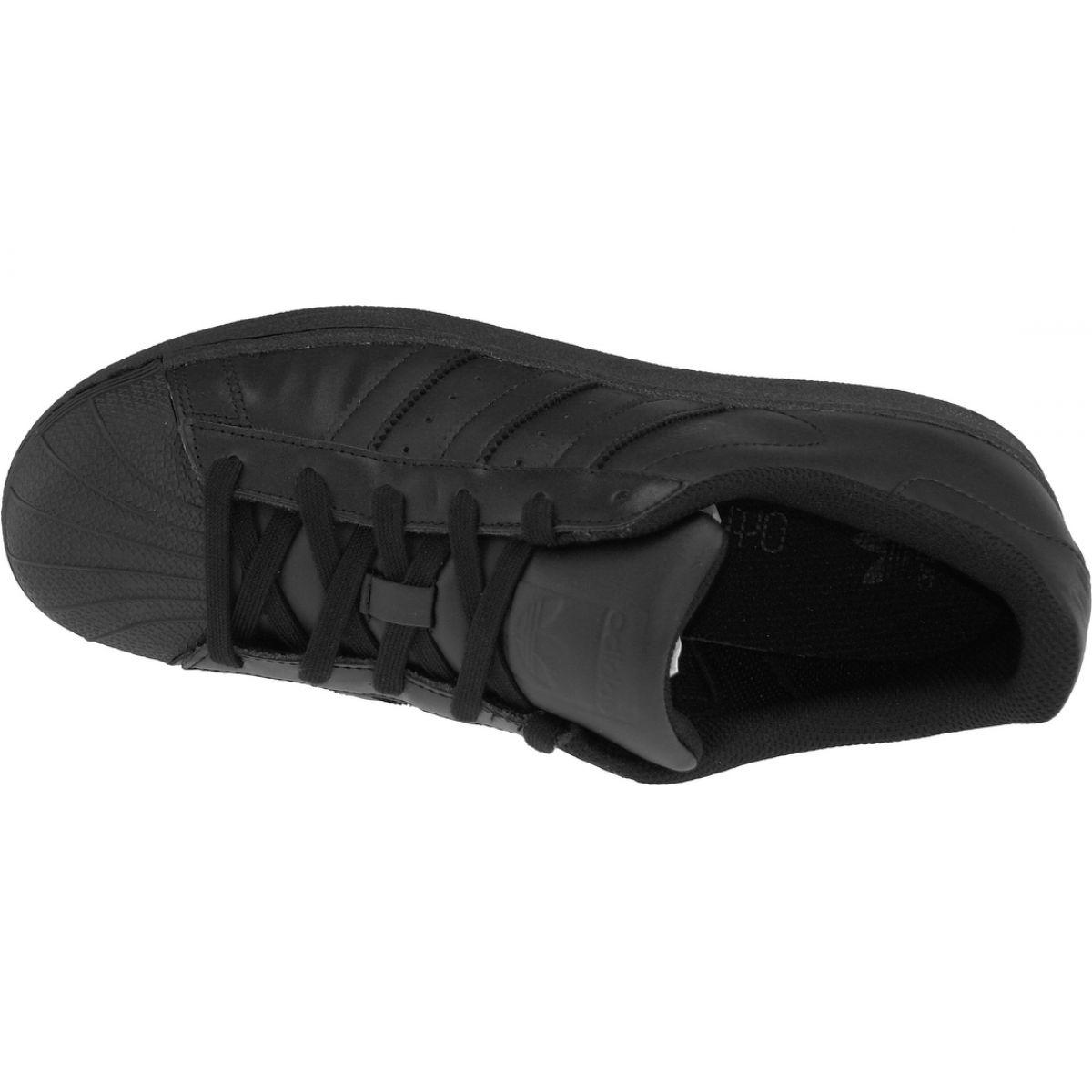 best sneakers 87946 4bc04 Black Adidas Superstar J Foundation Jr B25724 shoes