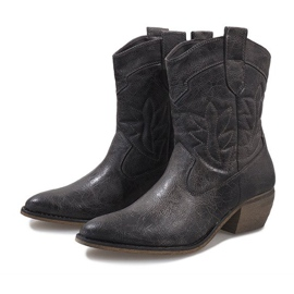 Gray cowgirl boots 10601-1 grey 3