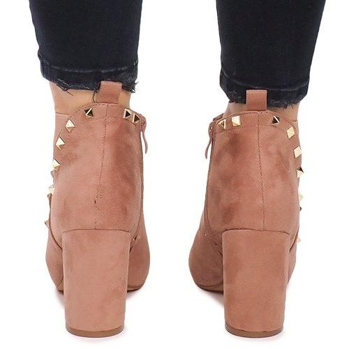 Ankle Boots F3626 Pink - ButyModne.pl