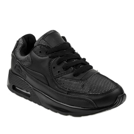 Black sports shoes sneakers B306A-61S 1