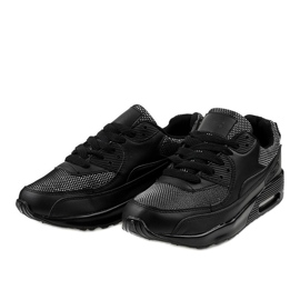 Black sports shoes sneakers B306A-61S 2