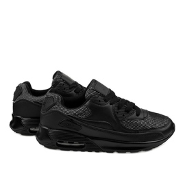 Black sports shoes sneakers B306A-61S 3