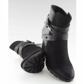 High-heeled boots black 8287 Black 1