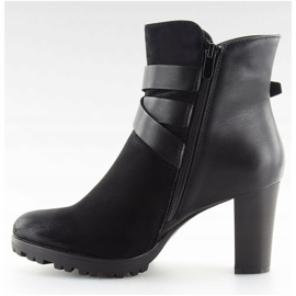 High-heeled boots black 8287 Black 4