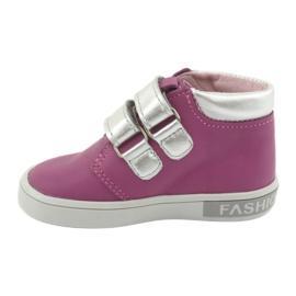 Mazurek velcro boots pink grey 2