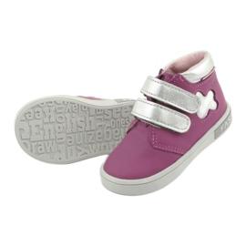 Mazurek velcro boots pink grey 5