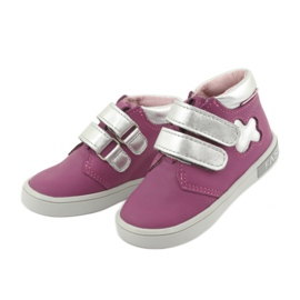 Mazurek velcro boots pink grey 3