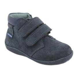 Boys' shoes with Velcro Mazurek 341 navy blue 1