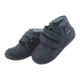Boys' shoes with Velcro Mazurek 341 navy blue 3