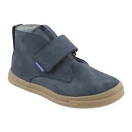 Velcro shoes Mazurek 106 navy blue 1
