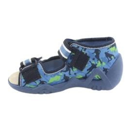Befado yellow children's shoes 350P002 blue green 3