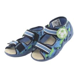 Befado yellow children's shoes 350P002 blue green 4