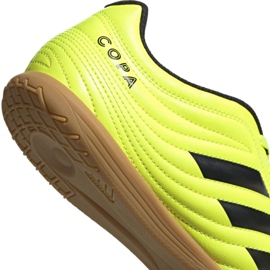 Adidas Copa 19.4 In M F35487 football shoes yellow black 4