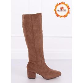 Brown High heels YQ218P Camel 1
