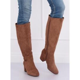 Brown High heels YQ218P Camel 2