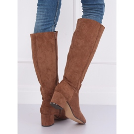 Brown High heels YQ218P Camel 3