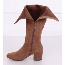 Brown High heels YQ218P Camel 4