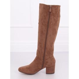 Brown High heels YQ218P Camel 5