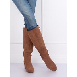 Brown High heels YQ218P Camel 6
