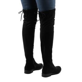 Women's suede boots 8926 black 2