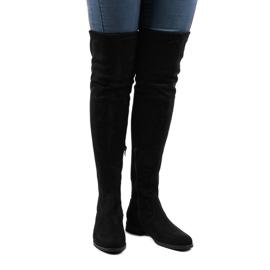 Women's suede boots 8926 black 1