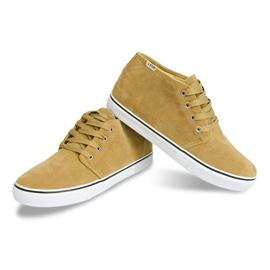 High Suede Sneakers Y009 Camel brown 1
