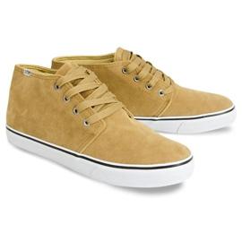 High Suede Sneakers Y009 Camel brown 2