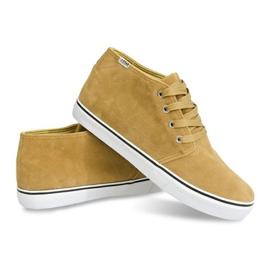 High Suede Sneakers Y009 Camel brown 4