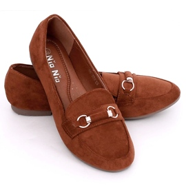 Women's loafers brick 99-259 D.ORANGE brown 2