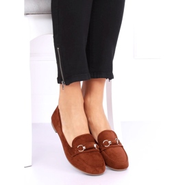 Women's loafers brick 99-259 D.ORANGE brown 1
