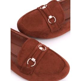 Women's loafers brick 99-259 D.ORANGE brown 3