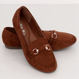Women's loafers brick 99-259 D.ORANGE brown 4