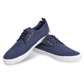 Fabric Sneakers Casual Y011 Blue 2